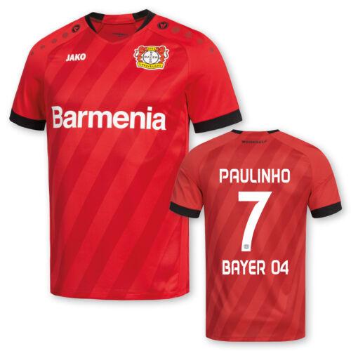 JAKO Bayer 04 Leverkusen Heimtrikot adultes avec//sans Flock 2019//20 NOUVEAU!