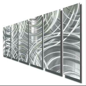 Metal Wall Art Panels Ultra Modern Etched Silver Decor Original Art Jon Allen