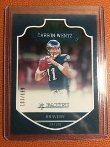 Details About Carson Wentz Rookie Card Bravery Philadelphia Eagles North Dakota State