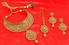2322 Indian Bollywood Polki Women Bridal Wear Gold Plated Jewelry Necklace