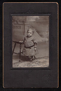 Antique-Cabinet-Card-Photograph-Adorable-Baby-in-Cute-Dress-Allentown-PA