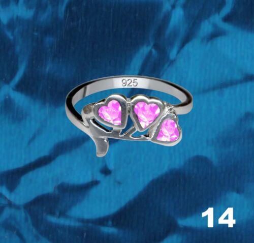 Extravagante Bagues en Argent Vrai Sterling 925 Bijoux Zircon Pierre