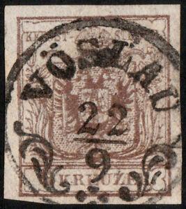 AUTRICHE-AUSTRIA-OSTERREICH-ca-1850-CaD-034-VOSLAU-034-Mueller-3134b-on-Mi-4