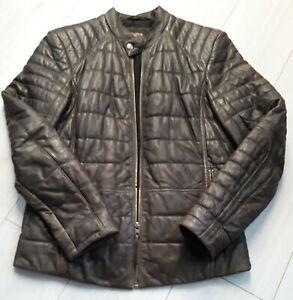 TIGHA-Herren-Biker-Lederjacke-Vintage-Gruen-Sheep-Leather-Gr-XXL
