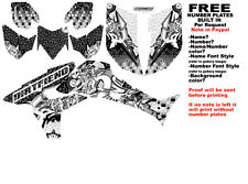 DFR BURNER GRAPHIC KIT BLACK SIDES/FENDERS 04-05 HONDA TRX450R TRX 450