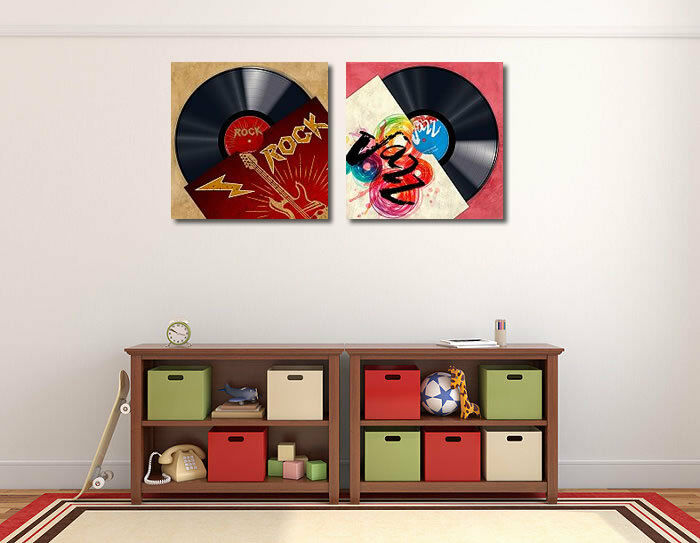Steven Steven Steven Hill: VINYLE CLUB - Jazz Toile sur cadre toile RECORD MUSIQUE 386cf0