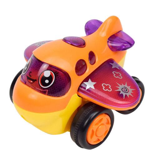 Mini Cartoon Car Airplane Railway Traffic Tools Model Toy for Kids 19 Months