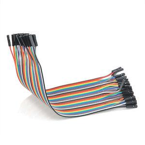 Female-to-Female-Jumper-Wire-20CM-40PCS-Color-Ribbon-Breadboard-Cable-Popular