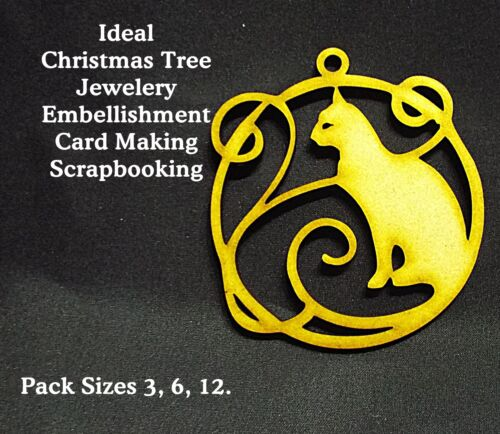 03a Artistic CAT Christmas Tree decor//Scrapbook//Card Making//Box Pack Sizes 6-12