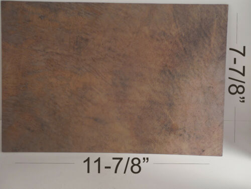 """Kydex Sheet Approx 11 7//8/"""" x 7 7//8/"""" with Infused Rustic Leather 1 Sheet"""