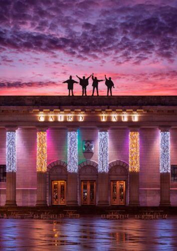 Dundee BEATLES composto di caird Hall-Wall Art fotografia Scozia-Fan Art