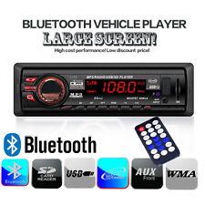 Bluetooth SINGLE DIN IN-DASH CAR STEREO RADIO PLAYER iPOD AUX FM MP3 USB SD