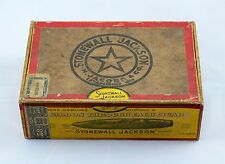 GENERAL STONEWALL JACKSON ANTIQUE VINTAGE CIGAR BOX