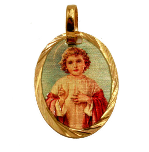 Angel Medalla 14k Gold Plated Medal with 18 Inch Chain Angels Medal