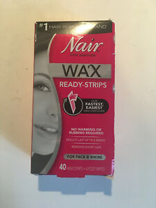 Nair Hair Remover Wax Ready Strips For Face Bikini 40 Ct Open Box 22600019572 Ebay