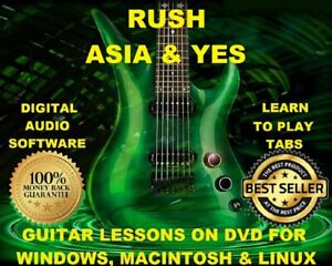 Details about Rush Guitar TABS Lesson CD 638 TABS 119 Backing Tracks + MEGA  BONUS Asia Yes!!!