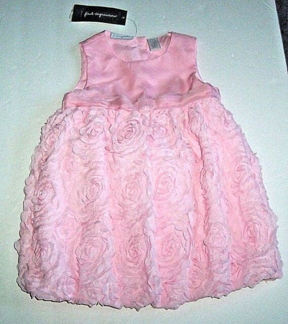 b6d9a5aca6 FIRST IMPRESSIONS BABY GIRLS PINK FANCY DRESS PANTIES 18 MO 2 PC SET  FLOWERS NWT