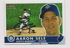 Aaron Sele Seattle Mariners 2001 Fleer Signed Card W/Our COA