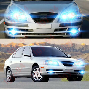 for 2004 2005 2006 hyundai elantra 6pc 8000k led headlights bulbs fog lights ebay ebay