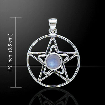 Celtic Pentacle .925 Sterling Silver Pendant Choice of Gemstone by Peter Stone