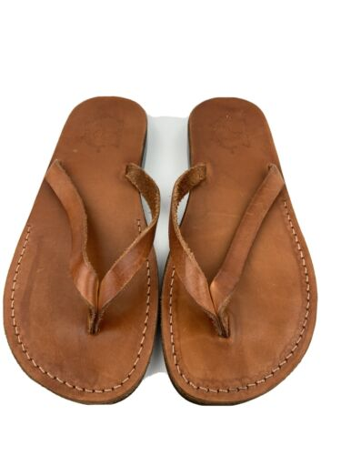 Jerusalem Sandals Jaffa Men's Thong Leather Sanda… - image 1