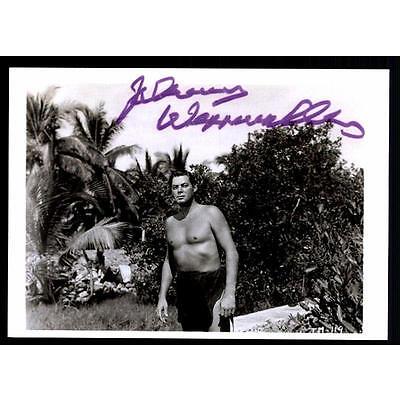 Johnny Weissmüller Autogrammkarte Bekannt aus Tarzan