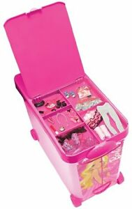 Image Is Loading Barbie Doll Case Clothes Wardrobe Storage  Playset Organizer