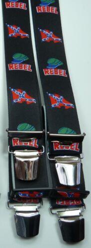 Hosenträger,Südstaatenrebell-Motiv,extra starke Clips,35mm breit 100-200cm lang