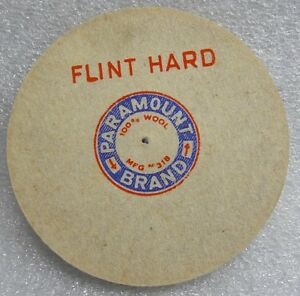 "6/"" DIA 1//4/"" WIDE FLINT HARD PARAMOUNT FELT WHEEL BUFF PIN HOLE POLISHING BUFFING"