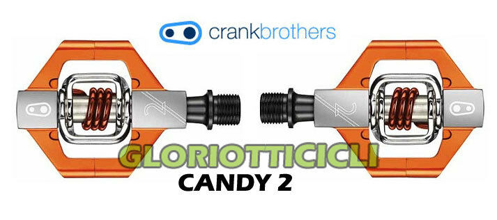 CRANKBROTHERS - - - COPPIA PEDALI CANDY 2 ARANCIONE efd1c2