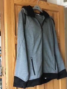 lunghe Ladies 113cm nero e a Xl 104 taglia grigio maniche Uk Lured'ze Hoodie w6UdqUI