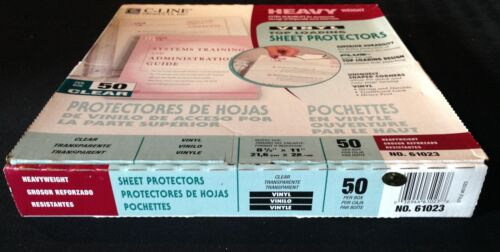 C-Line Products 61023 Heavyweight Vinyl Sheet Protector Clear 11 x 8 5 50 Per B