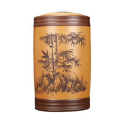 large jar for Pu/'er tea cake loose tea yixing zisha tea canister sealed handmade