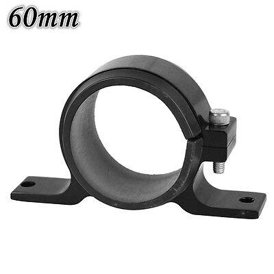 60mm Fuel Filter Bracket Mount Clamp Fits 044 Pump Billet Aluminum Black