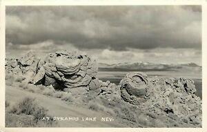 RPPC-Postcard-Unusual-Tufa-Rock-Formations-Pyramid-Lake-NV-Unposted
