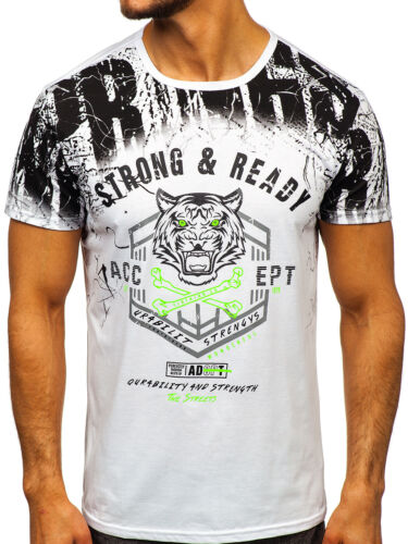 T-Shirt Tee Rundhals Kurzarm Party Aufdruck Classic Motiv Herren BOLF 3C3 Print