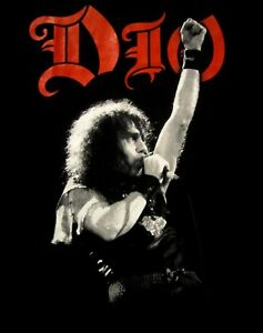 DIO-cd-lgo-Ronnie-PHOTO-WE-ROCK-Official-2-SIDED-SHIRT-MED-New-OOP-black-sabbath