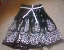 gorgeous black skirt with cream pattern and sequin designs. M by cotton express