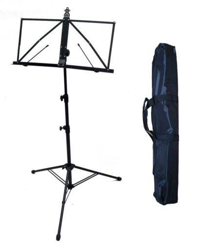 Notenständer//Notenpult HNS4 67cm-129cm höhe !n Tasche mit Hammerschlag Optik