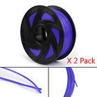 3D Printer Filament 1.75mm PLA 1kg For Drawing Print Pen MakerBot Blue UE