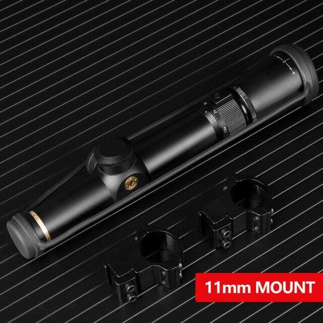 Black 1.5-5X20mm Riflescope Matte MilDot Rifle Scope Duplex Reticle