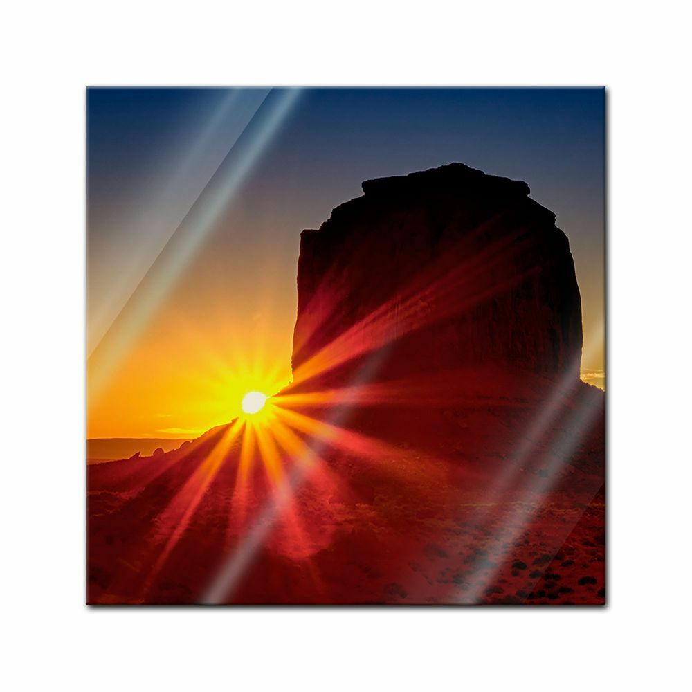 Immagine di vetro-Panorama Sunrise-Panorama Alba
