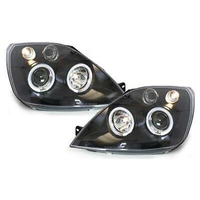 Ford Fiesta Mk6 01-08 ST ST150 Black Twin Angel Eye Projector Headlights