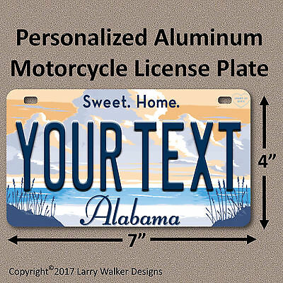 Alabama Sweet Home Your Text Custom Personalized Motorcycle License Plate Tag Exquisite Craftsmanship;