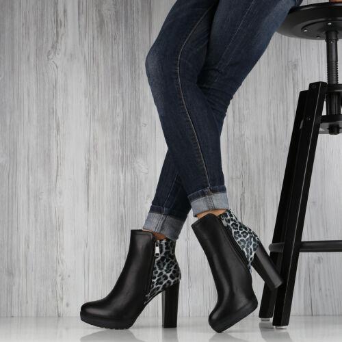 Damen Stiefeletten Plateau Boots Schuhe High Heels 892282 Top