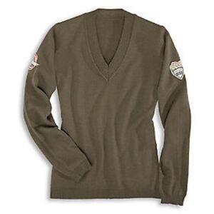 Details zu DUCATI Historical Damen Pullover StrickPullover Sweatshirt LADY oliv NEU !!