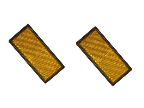 2 catadioptre 85x38 mm orange caravane camping car remorque signalisatio gabarit