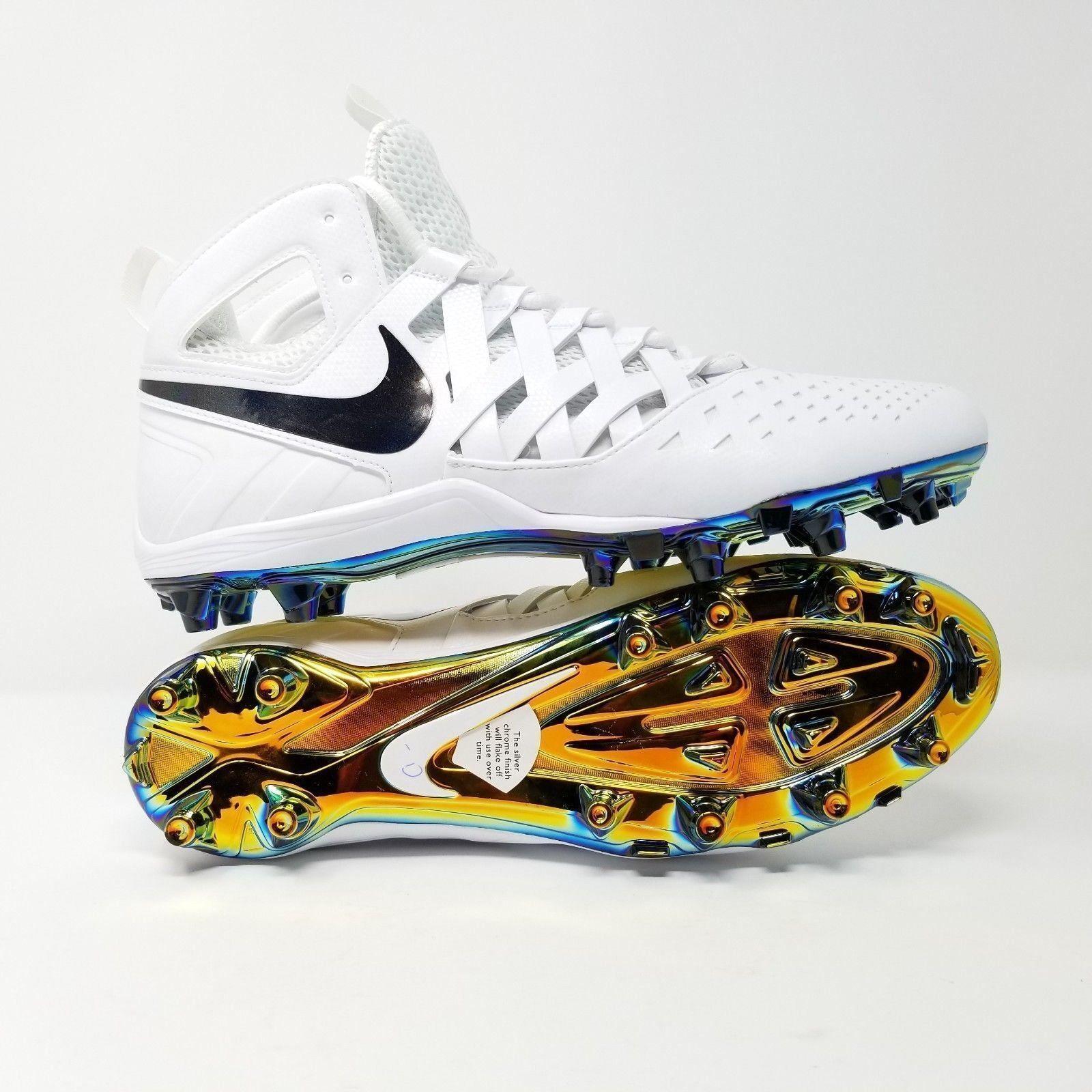 NEW Nike Huarache Lacrosse Cleats Foot White Size 12.5 857036-101