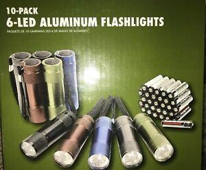 10-Pack NEW Ozark Trail 6 LED Aluminum Flashlight