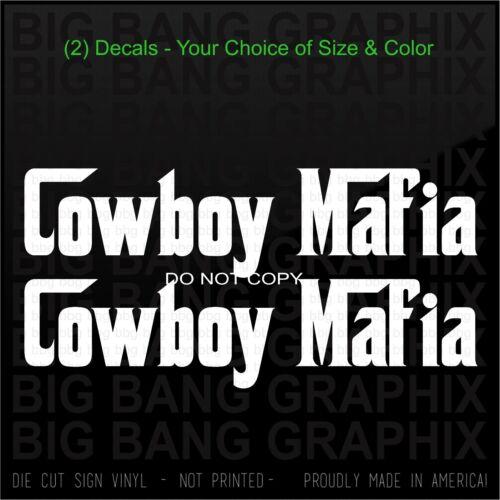 Cowboy Mafia Diesel Decal Sticker Funny Country Farm Western Southern Boy Truck